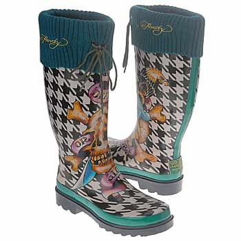 Ed Hardy shoes - boots - gummy boots - rainy weather