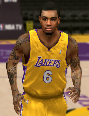NBA 2K13 Earl Clark Cyberface Mods
