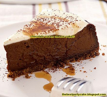 chocolate cream cheese cake