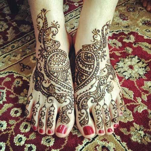 Latest Leg Mehndi Design : Mehndi designs for legs