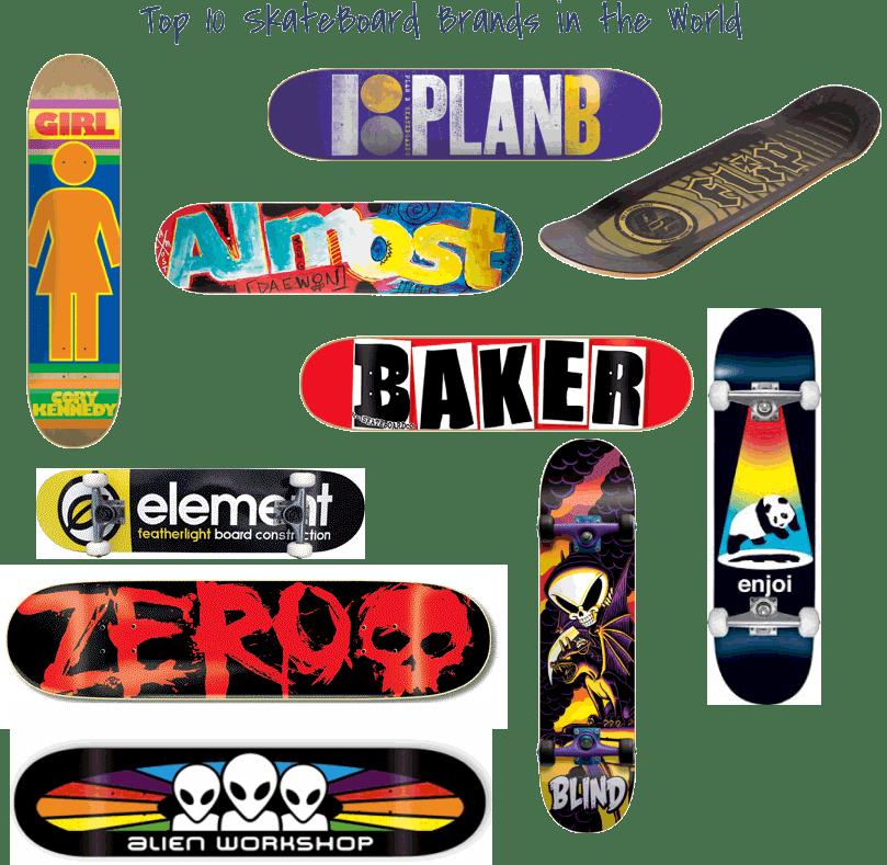 top 10 best skateboard brands in world