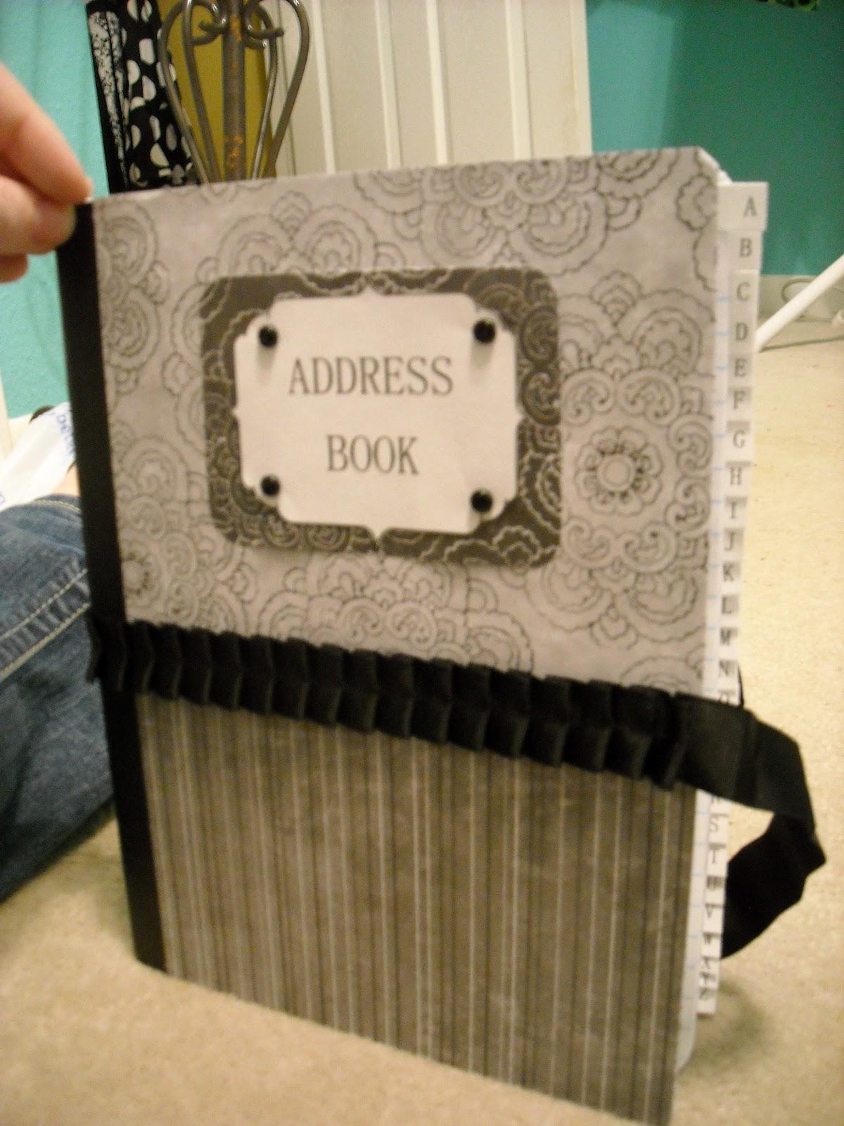 Phone Book Cover Diy : Nik s naks diy address book