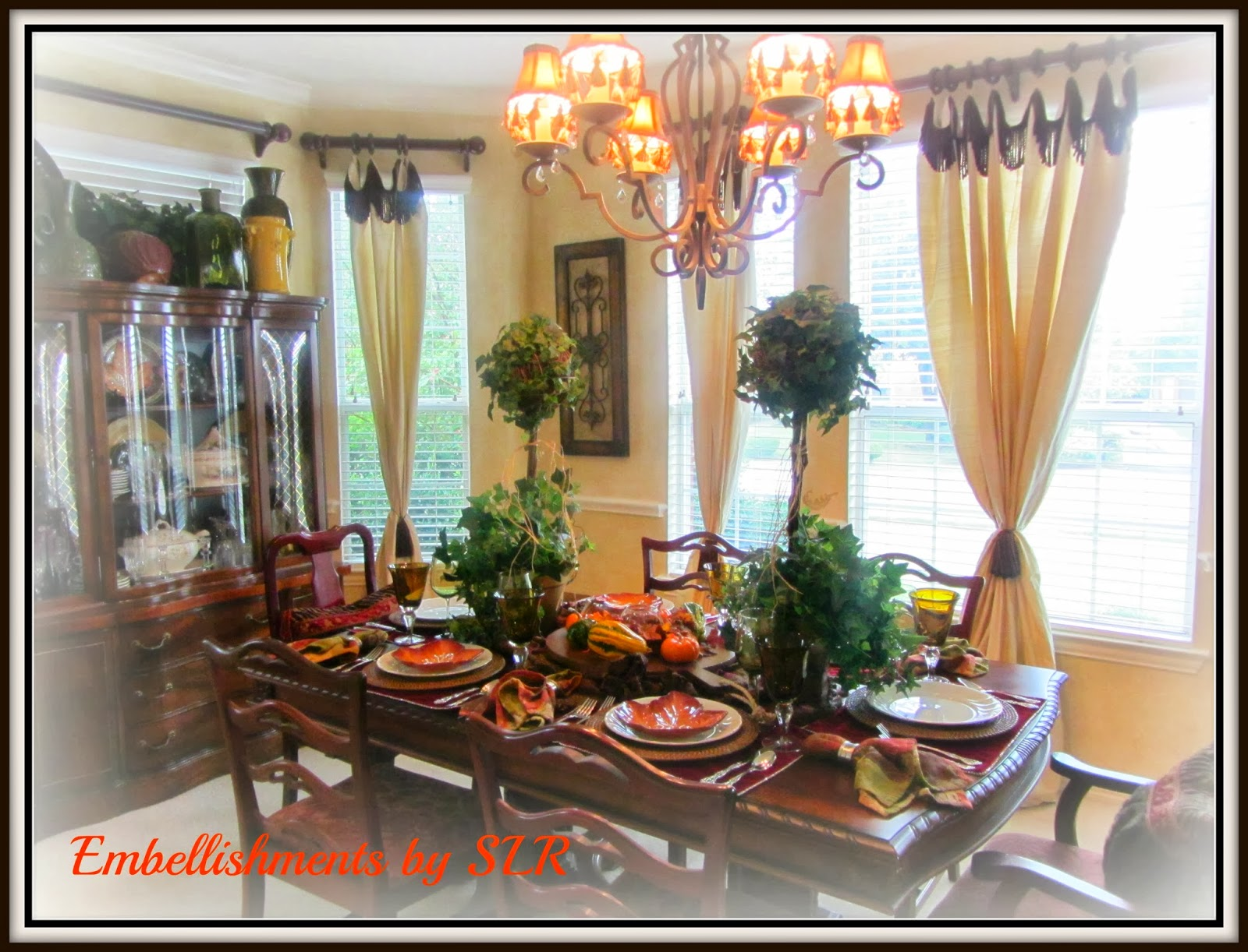 Embellishments By SLR Fall Touches In The Dining Room