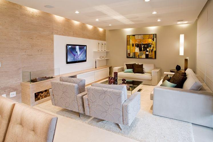 Salas de tv veja 30 modelos lindos e dicas decora o for Modelos de modulares para sala