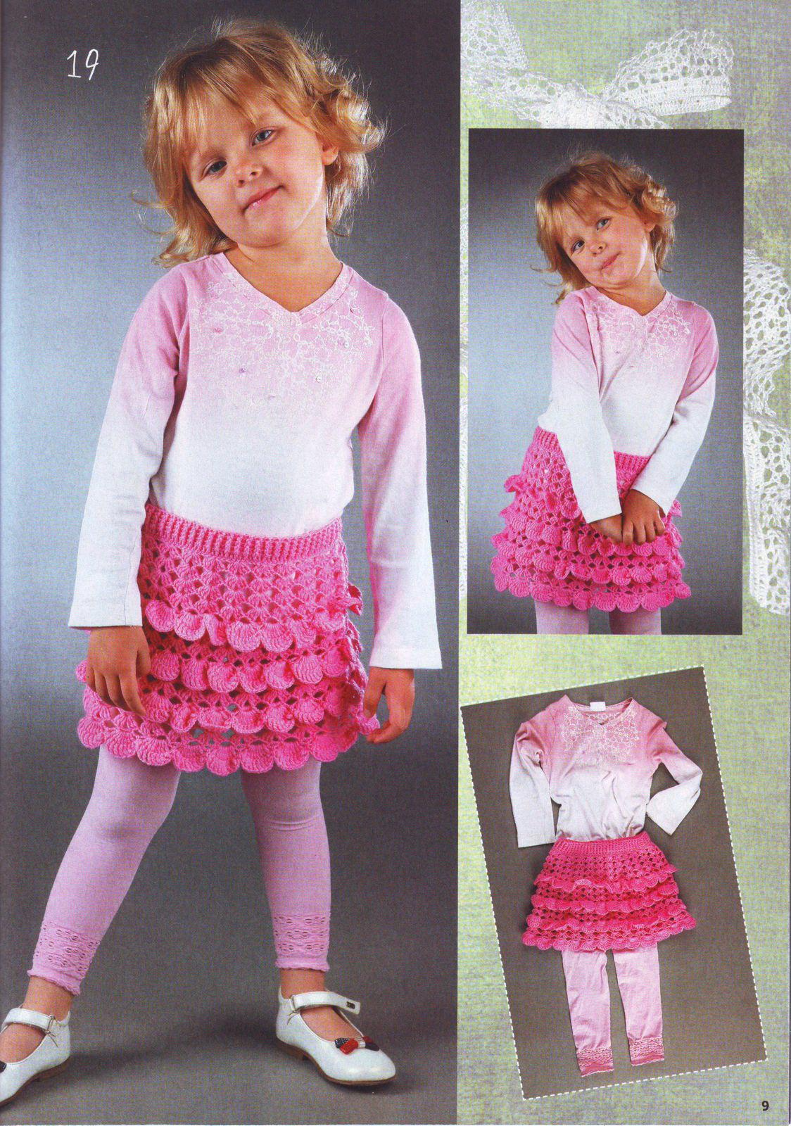 Вязание для детей крючком-юбочка. Пошаговый мк 19