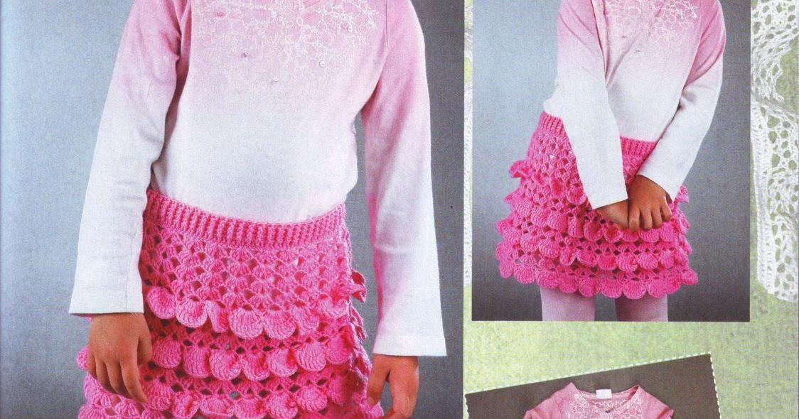Вязание юбки с рюшами 58
