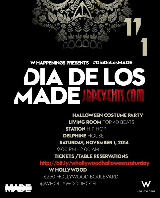 """W Hollywood Celebrates Day of Dead 2014"""
