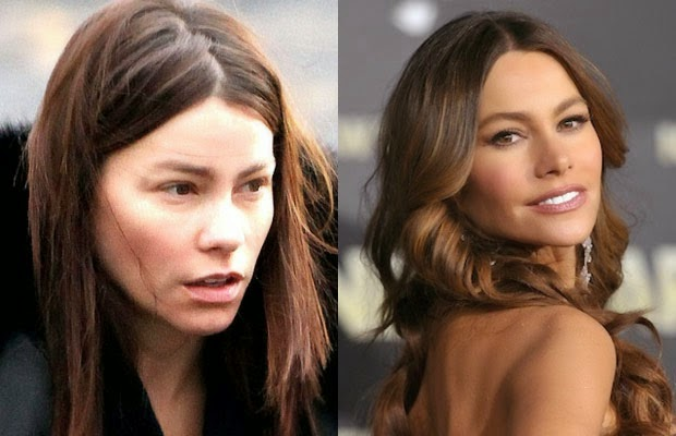 صوفيا فيرجارا - sofia vergara - shocking celebrities without makeup photoshop