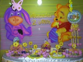 Children parties, Pooh Bear Decoration