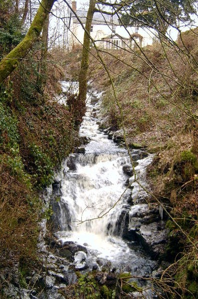 Waterfall at the top of the Gairie Burn, Kirriemuir