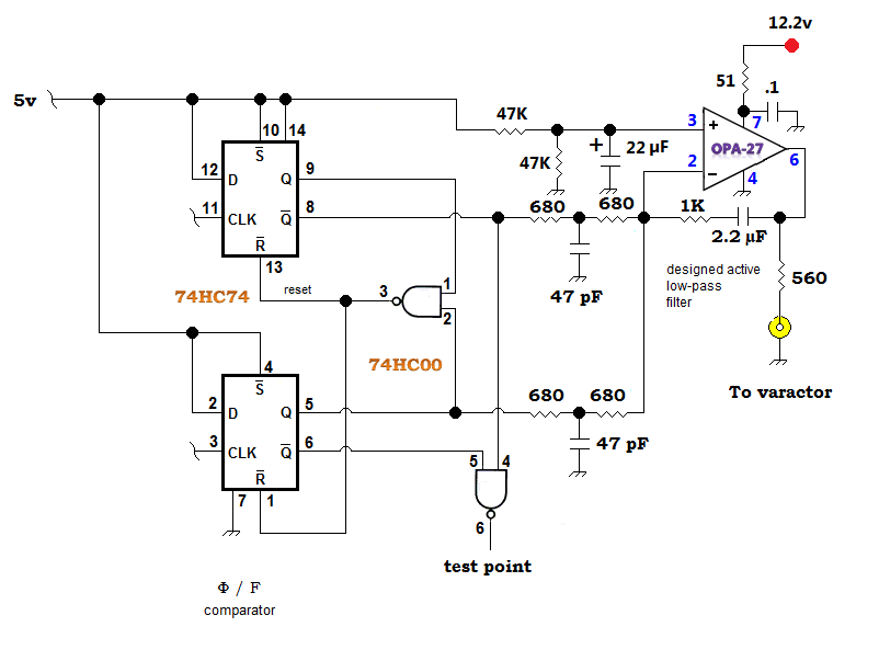 rf bypass and filtration in a uhf vco