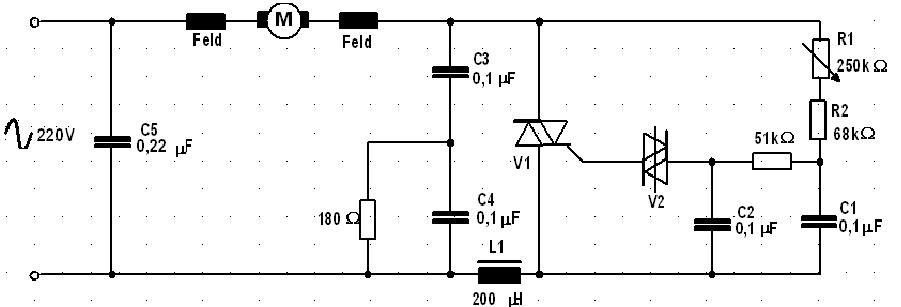 Gambar 25. Pengaturan kecepatan motor dengan triac