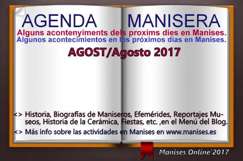 AGENDA MANISERA, AGOST 2017