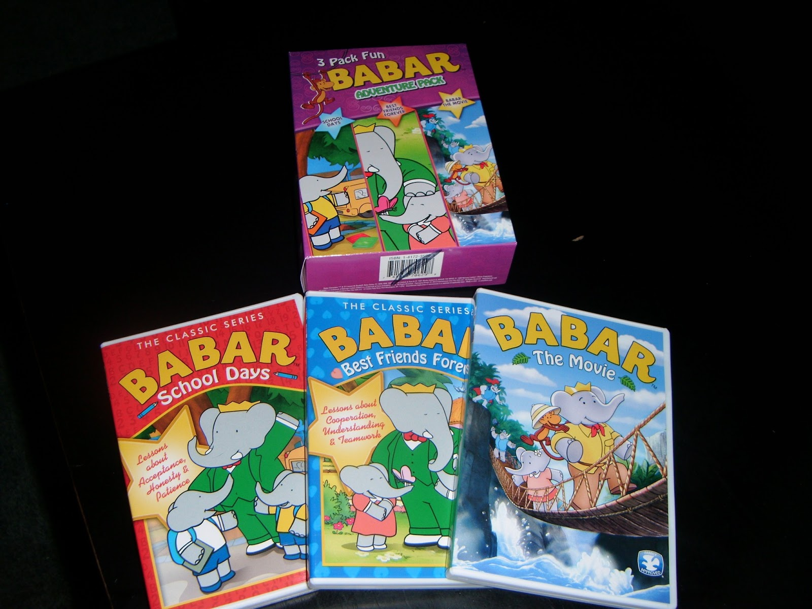 the abcd diaries babar adventure pack 3 dvd set. Black Bedroom Furniture Sets. Home Design Ideas