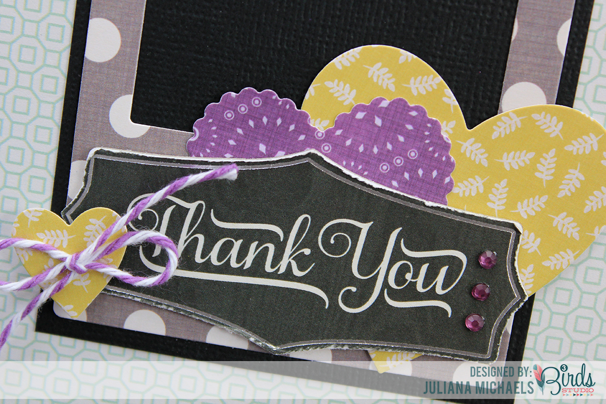 Thank You Card by Juliana Michaels for 3 Birds Studio detail