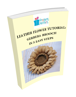 NEW leather flower tutorial NEW