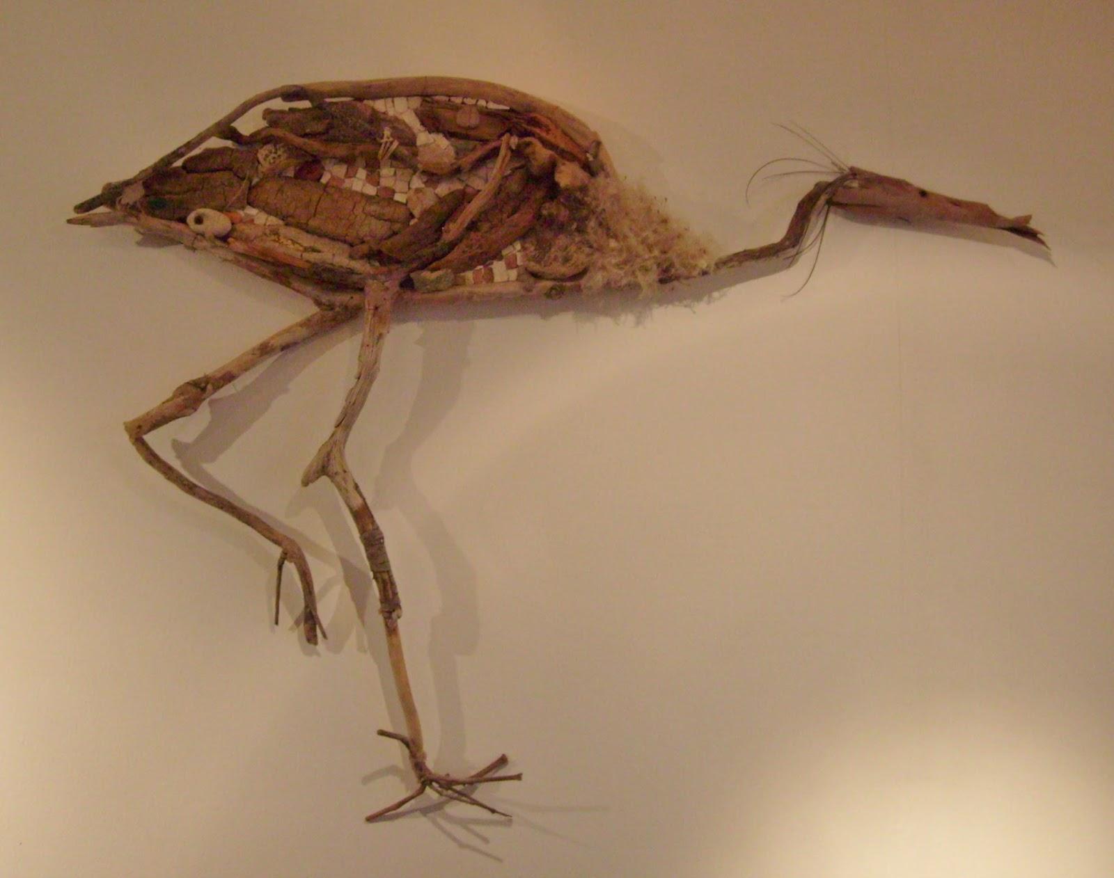 S verine peugniez cr ations animaux en sculpture et mosa que for Oiseau en bois flotte