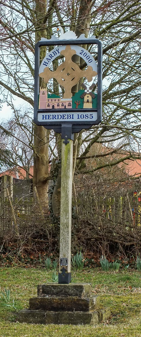 Harby Village sign marker
