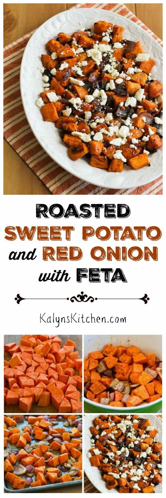 Kalyn's Kitchen®: Roasted Sweet Potatoes and Red Onions with Feta