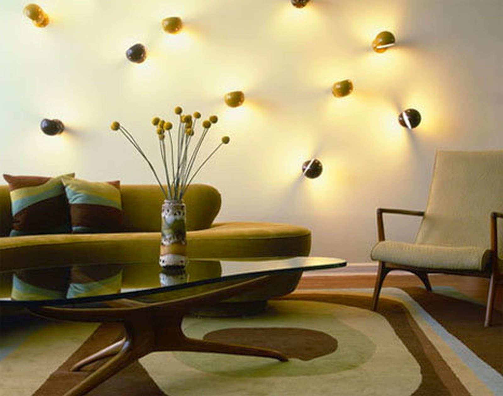 Small living room lighting ideas wall spotlights for expanding space