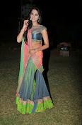 Manasa Glamorous Photos in Half saree-thumbnail-9