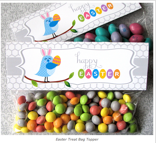 Frugal life project free printable easter treat bag topper and tags free printable easter treat bag topper and tags negle Gallery