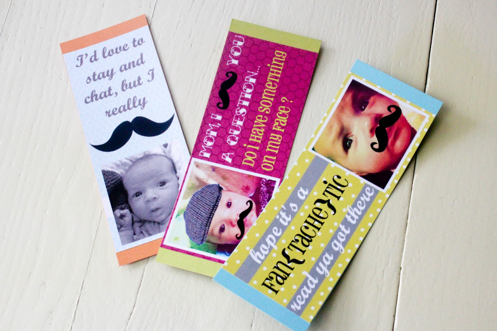 From Dahlias to Doxies: {Free} Mustache Bookmark Printables