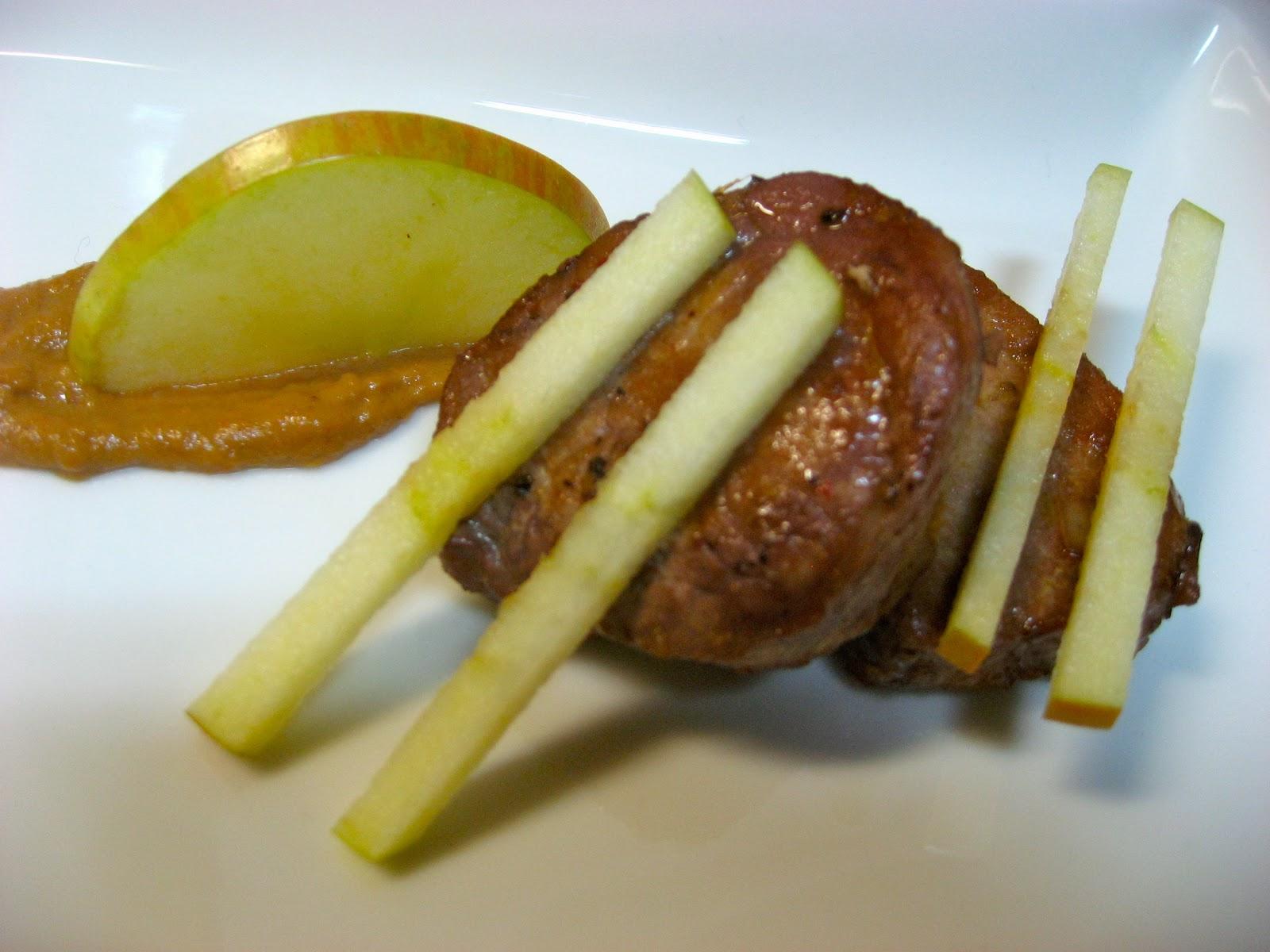 solomillo de cerdo a la naranja y manzana
