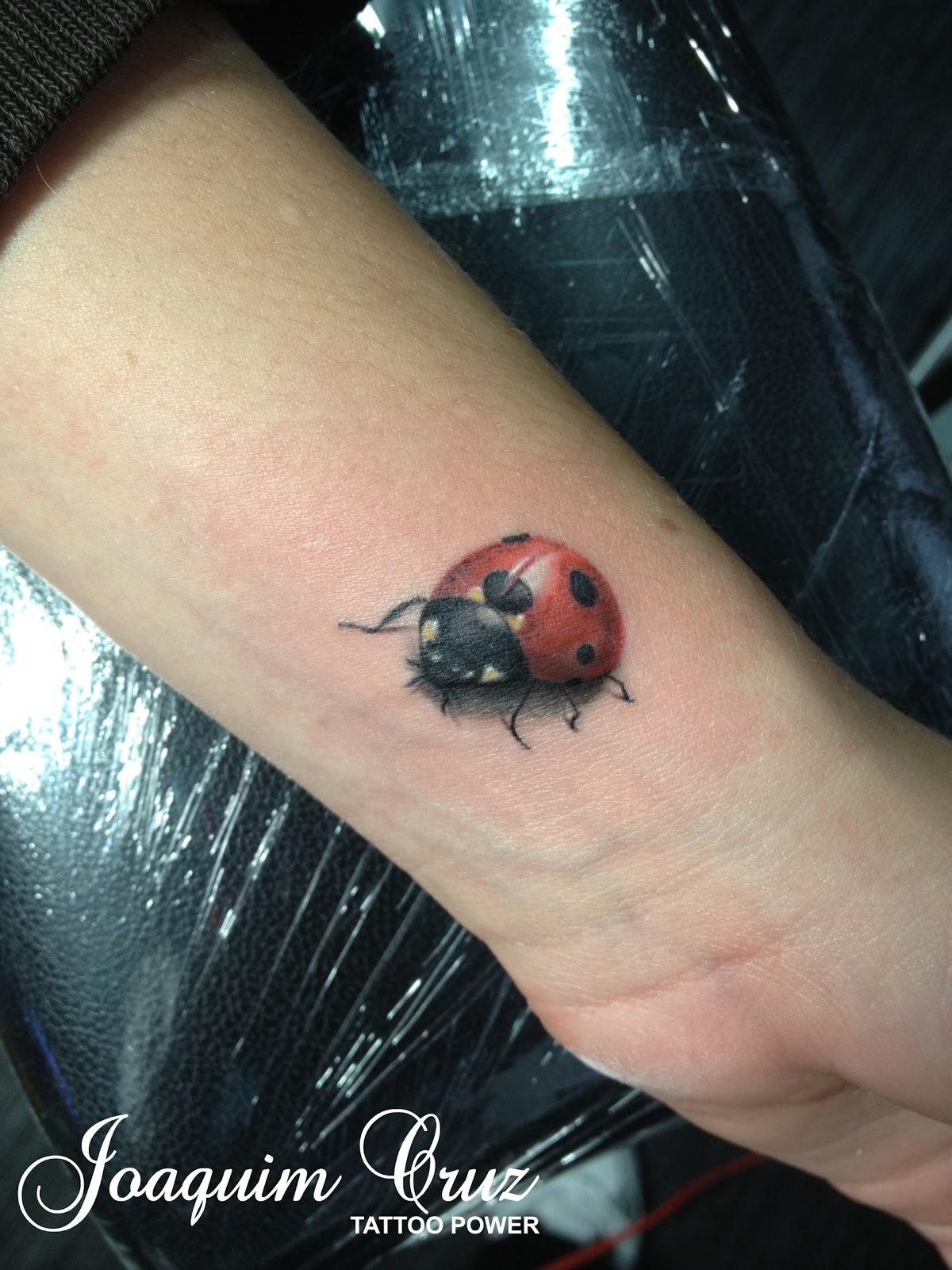 Realistic Ladybug Tattoos