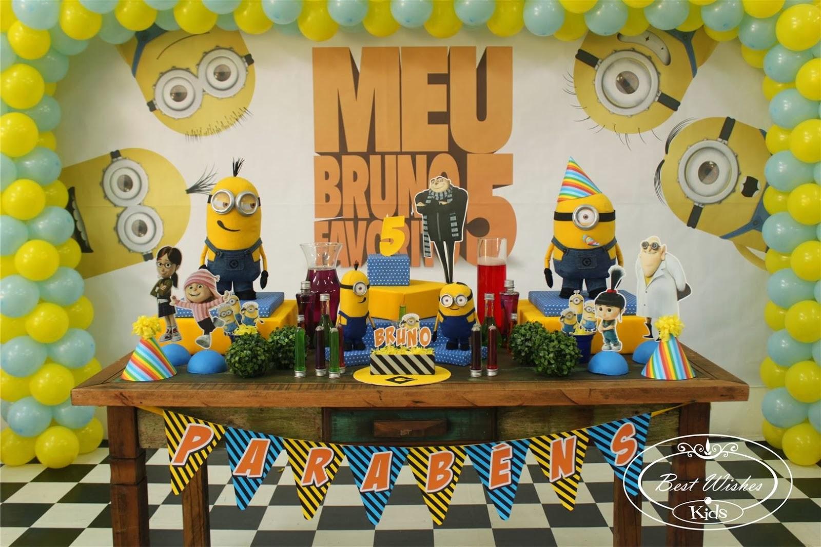 decoracao festa minions : decoracao festa minions:Aniversario De Festa Dos Minions