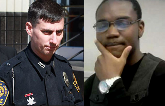 Officer Stephen Rankin was known to be a neo-Nazi before he killed William Chapman (left).