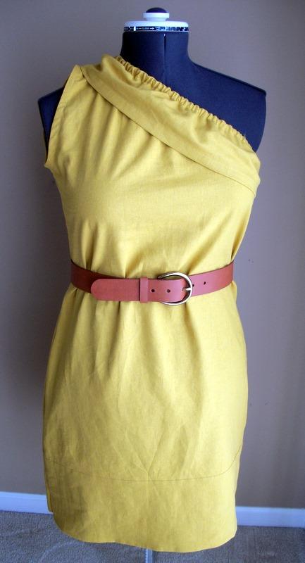 One Shoulder Ruffle Dress Tutorial