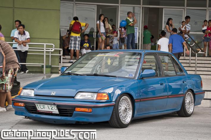 Honda Civic IV sedan (EF), youngtimer, samochód, niebieski, nuotraukos, blue