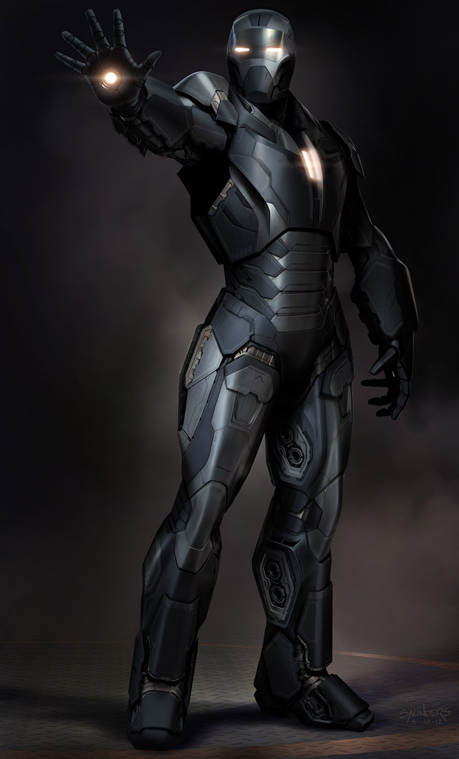 incredible iron man 3 concept art by phil saunders 171 film
