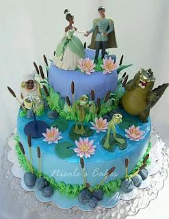 Tortas de La Princesa y el Sapo para Fiestas Infantiles, parte 1