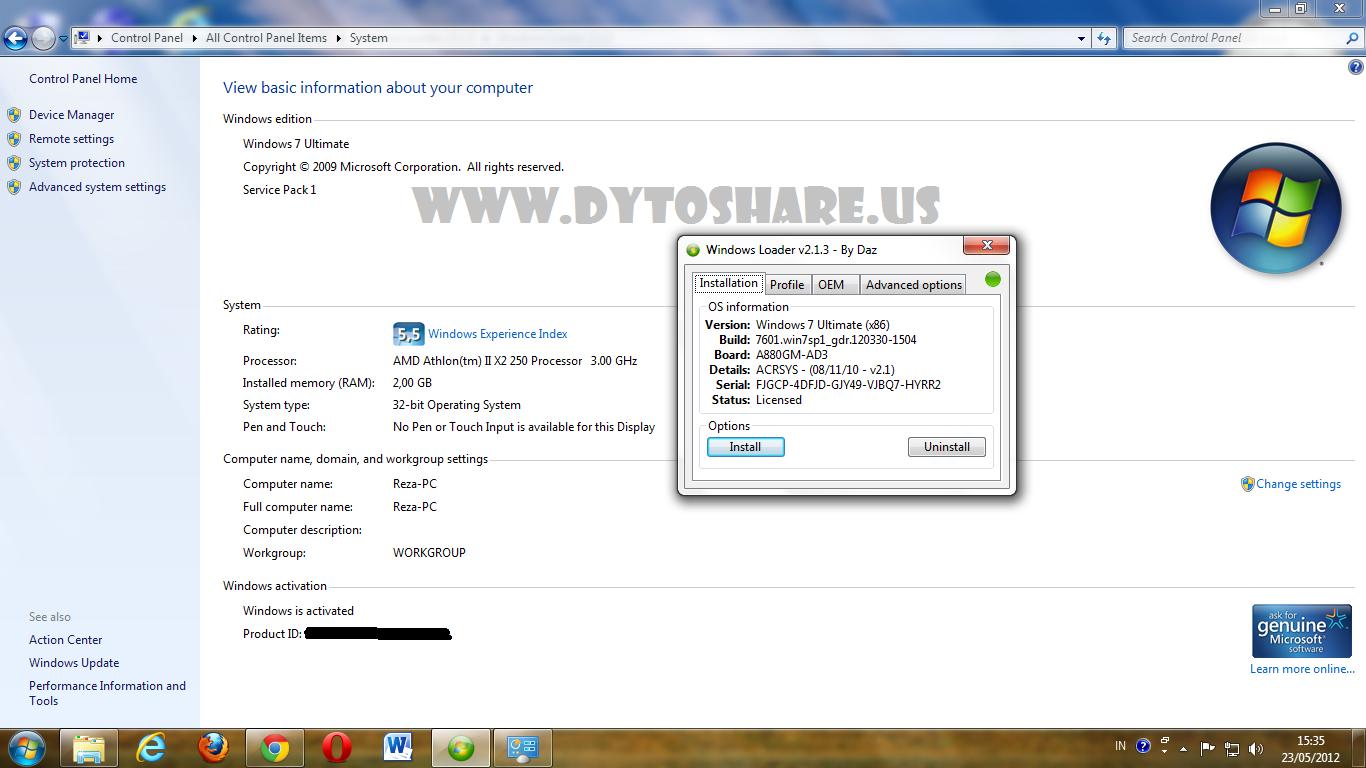 Windows Loader 2.1.2 Daz
