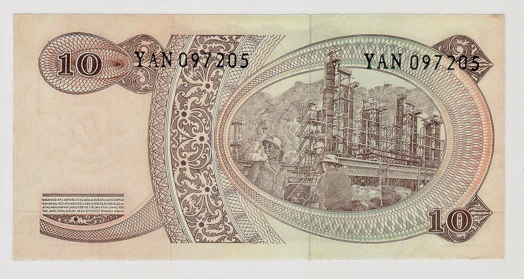 uang kuno Seri Soedirman tahun 1968 Pecahan 10 rupiah
