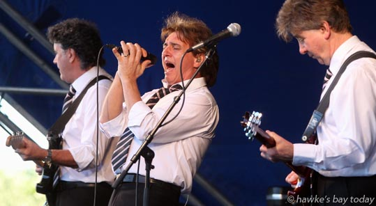 The Hollies performing at Church Rd Winery, Taradale photograph