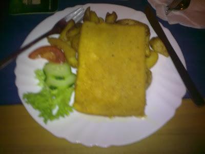 Vyprážaný syr. Reštaurácia Bakchus