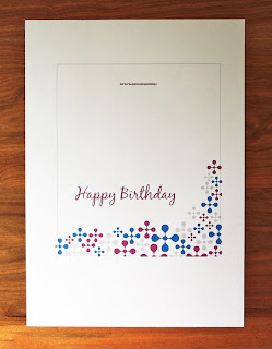 Birthday card printed out