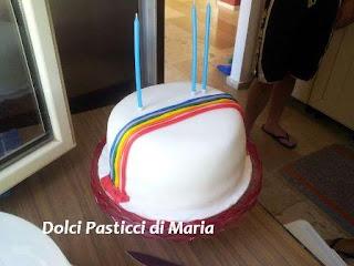 rainbow cake (torta arcobaleno)
