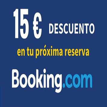 15€ DESCUENTO EN HOTELES CON BOOKING