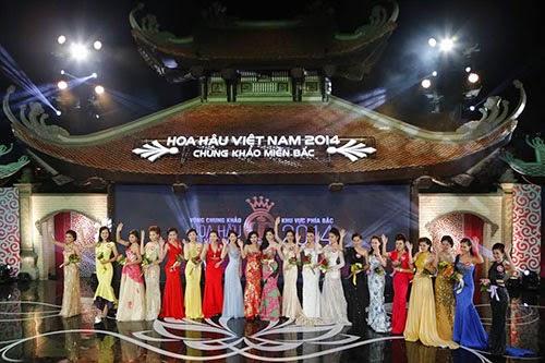 Thi câu hỏi ứng xử cho Hoa hậu Việt Nam 2014
