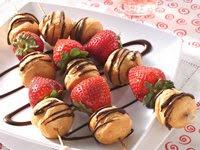 Strawberry-Cream Puff Kabobs