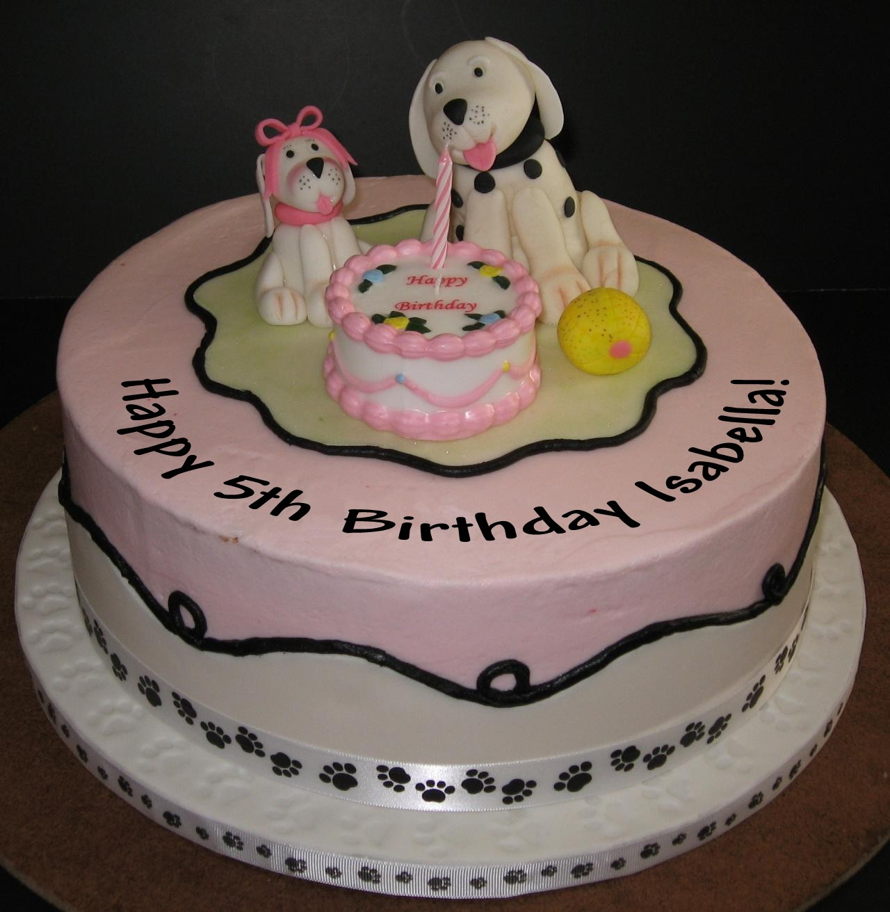 Cake Designs For Baby Girl 5th Birthday : It s A Dog s Life: It s Isabella s 5th Birthday Today!!
