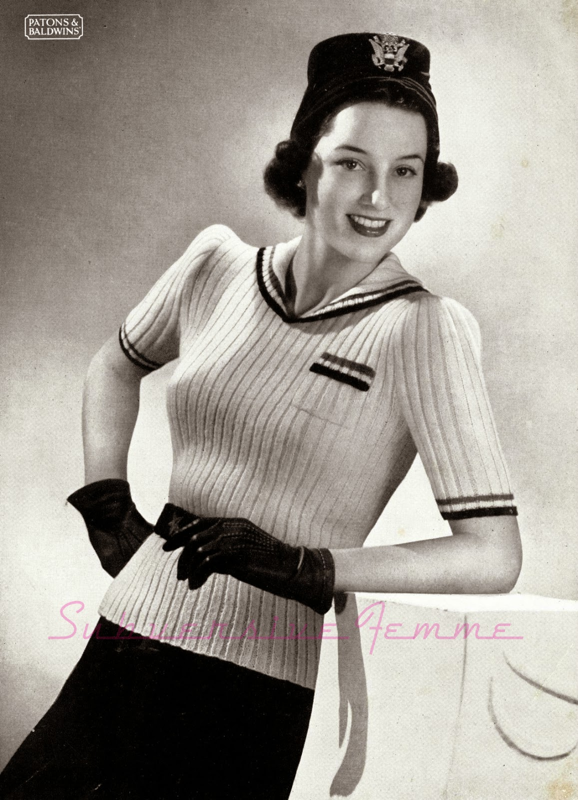 free vintage knitting patterns online 1940s 1930s jumper sweater