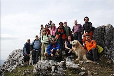 Santikurutz mendiaren gailurra 1.105 m. - 2011ko martxoaren 26an
