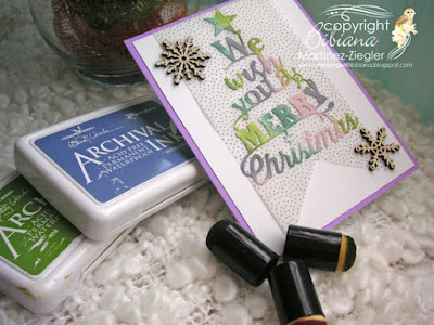 how to color die cuts merry card supplies