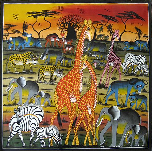 One crayola short africa for African mural painting