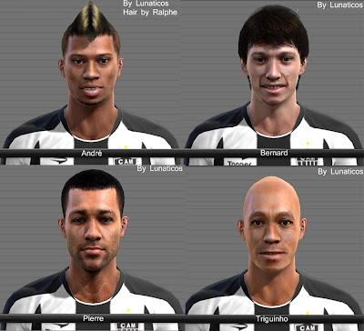 faces+dos+jogadores+do+atl%C3%A9tico+mineiro PES 2012: Faces André,Bernard,Pierre e Triguinho